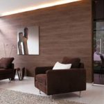 Способы отделки стен ламинатом, фото вариантов дизайна