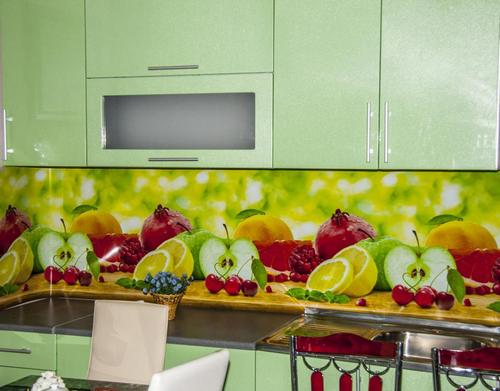 Установка пластикового кухонного фартука из пластика