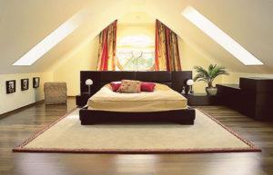 Вариант дизайна уютной спальни
