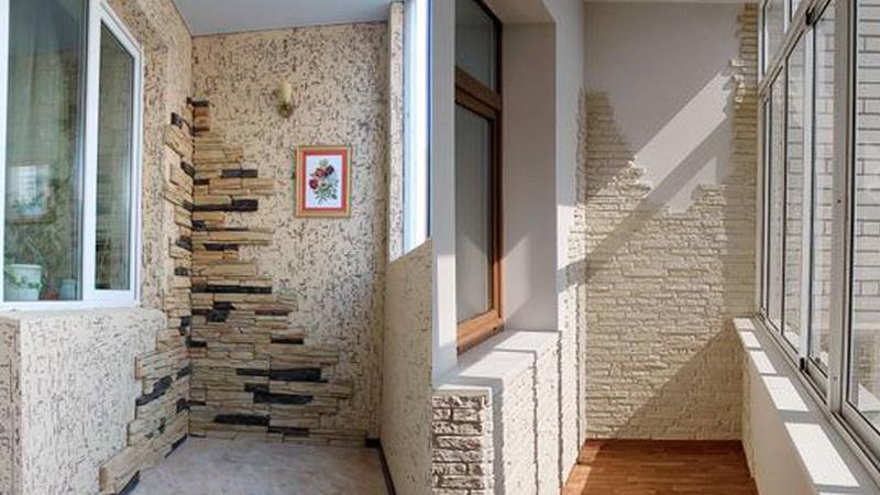 Вариант оформления декоративным камнем