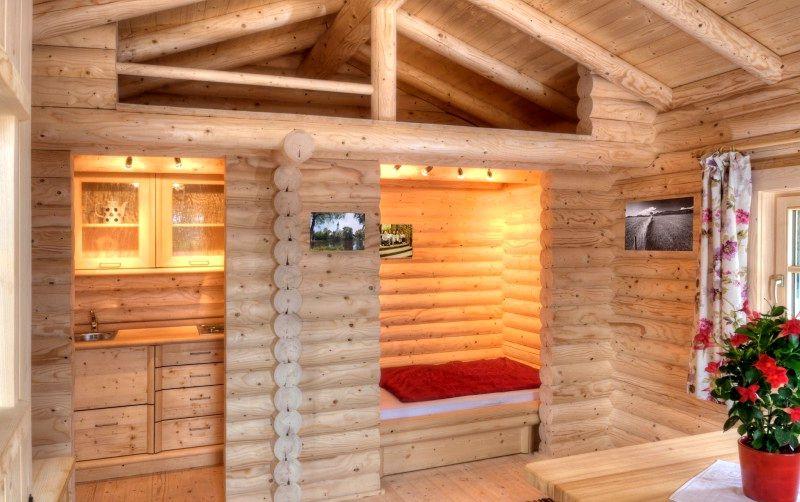 Внутренняя отделка дома блок хаусом из лиственницы