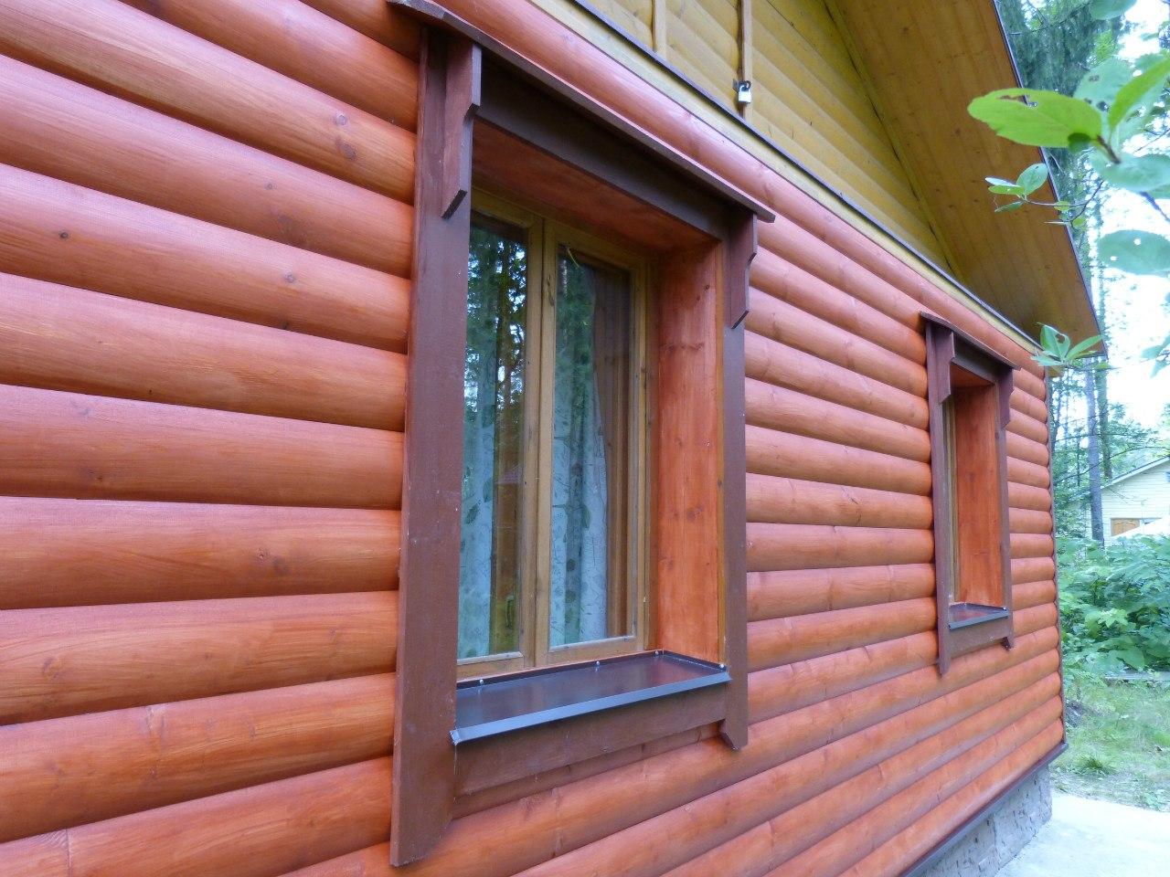 Защита и покраска блок хауса