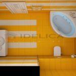 Большая квартира в желтом оформлении с оригинальным дизайном