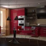 Декор современной красной квартиры