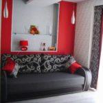 Дизайн большой квартиры красного цвета