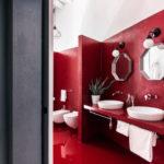 Дизайн квартиры красного цвета