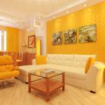 Дизайн-проект красивого дизайна желтой квартиры
