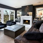 Эффектный дизайн квартиры черного цвета