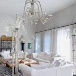 Изысканный вариант белого дизайна квартиры