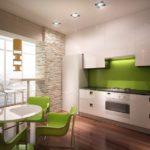 Как оформить квартиру зеленого цвета