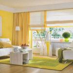 Красивая желтая квартира с необычным дизайном