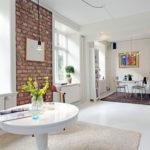 Красивый дизайн белой квартиры