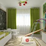 Квартира хеленого цвета со стильным дизайном