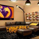 Квартира-студия желтого цвета с красивым дизайном