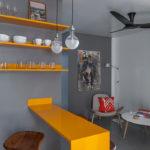 Маленькая квартира с желтым дизайном
