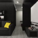 Несколько желтых акцентом в дизайне квартиры