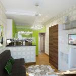 Правила оформления квартиры зеленого цвета