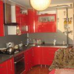 Правильно создаем дизайн квартиры красного насыщенного цвета