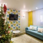Привлекательный дизайн современной желтой квартиры