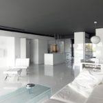 Спокойный дизайн квартиры белого цвета