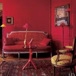 Старинный дизайн красной квартиры