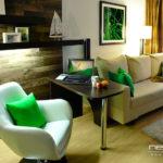 Стильный дизайн зеленой квартиры