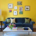 Стильный вариант дизайн желтой квартиры