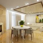 Светлый дизайн желтой квартиры