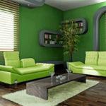 Светлый и необычный дизайн зеленой квартиры