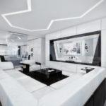Вариант дизайн большой белой квартиры