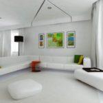Вариант интероьера квартиры белого цвета