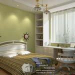 Вариант современного оформления квартиры в зеленом цвете