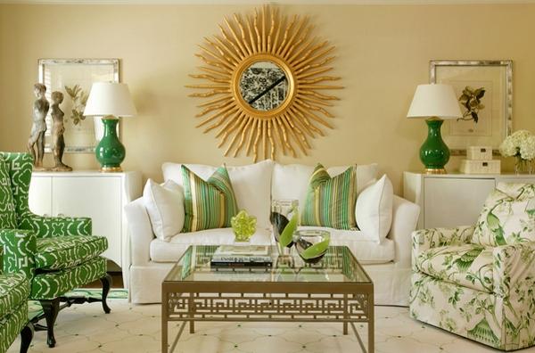 Яркий дизайн современной зеленой квартиры