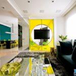 Желтая квартира с современным дизайном