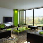 Зеленый цвет в дизайне зеленой квартиры