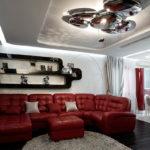 дизайн красной квартиры