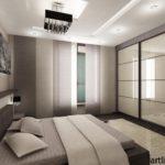 Бело-коричневый вариант дизайна квартиры