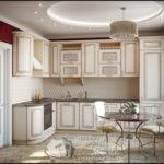 Бежевая красивая квартира с уютным дизайном