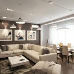 Бежевые тона современной квартиры