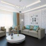 Бирюзовый цвет современной квартиры