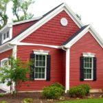 Бордовый цвет дома
