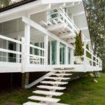 Дизайн белого дома снаружи