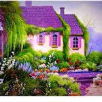 Дизайн дома в фиолетовом цвете