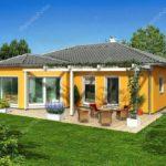 Дизайн дома в оранжевом цвете