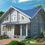 Дизайн дома в светло-голубом цвете
