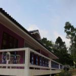 Дизайн фиолетового необычного дома