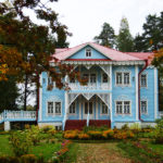 Дизайн голубого дома