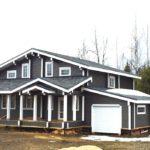 Дизайн красивого серого дома