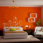 Дизайн квартиры оранжевого цвета