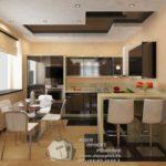 Дизайн квартиры основанный на коричневом цвете
